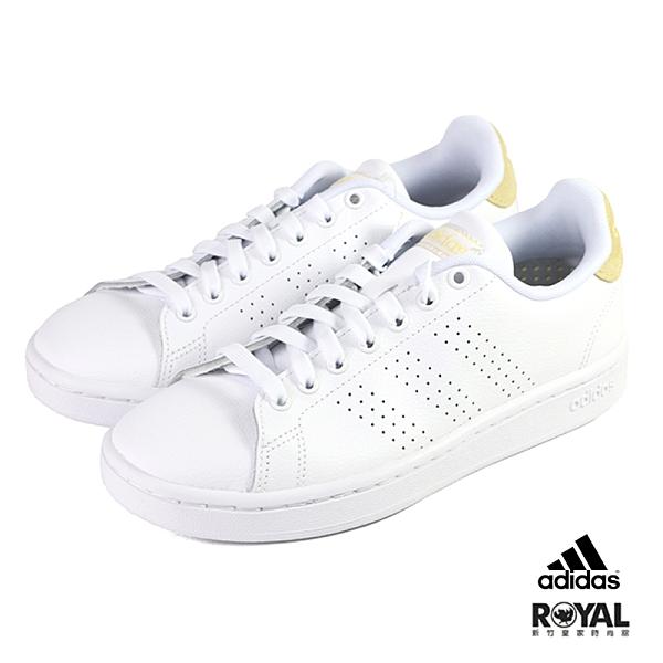 Adidas Advantage 白色 皮質 網球運動鞋 女款NO.J0533【新竹皇家 FW7376】