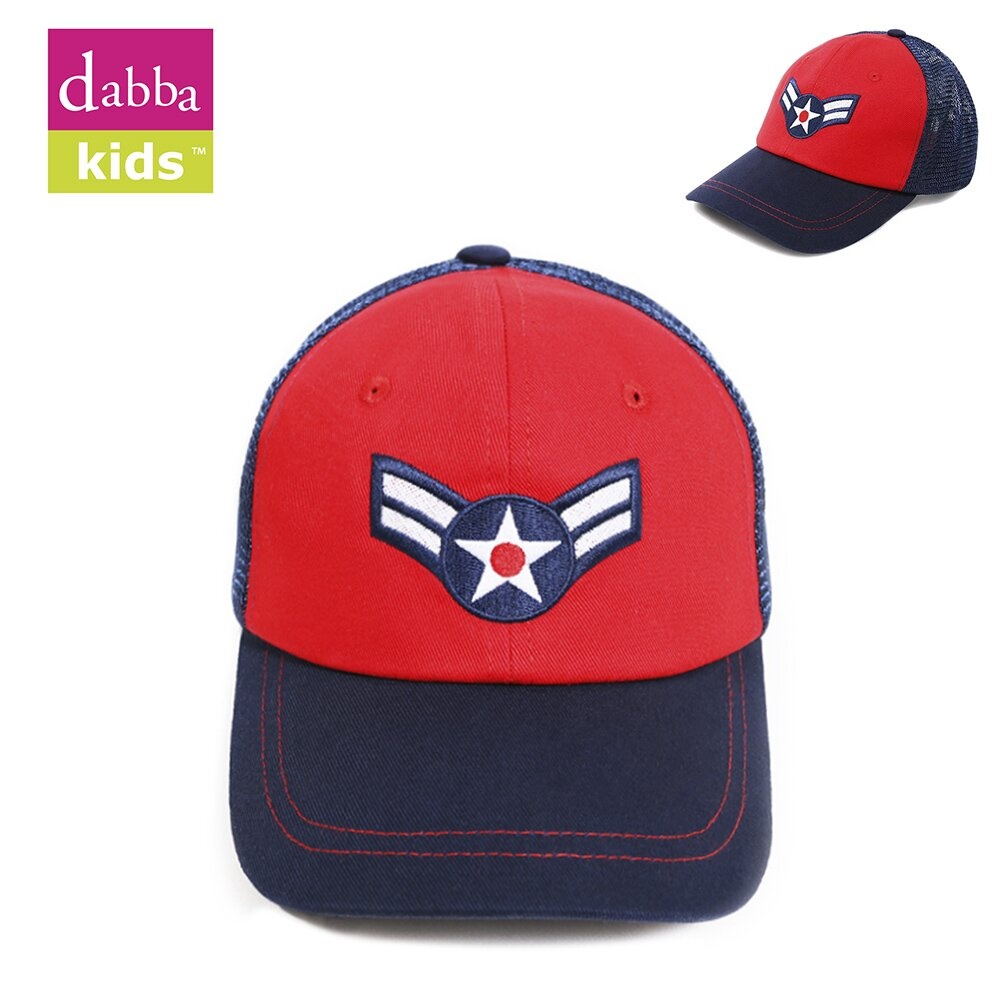 【DabbaKids】美國瓦拉棒球帽 (透氣網帽) - 美國隊長