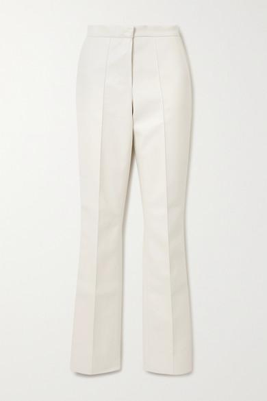 Lado Bokuchava - 人造皮革直筒裤 - 白色 - medium