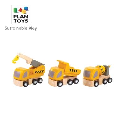 PLANTOYS 天然橡膠木益智玩具 角色扮演系列-營造工程小車隊