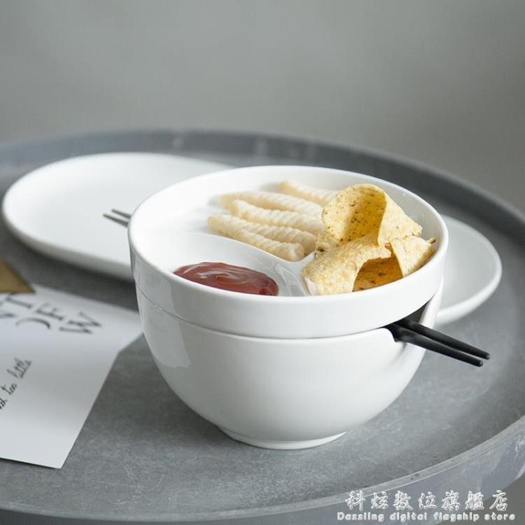 豬豬美家創意陶瓷泡面日式碗單個性早餐湯碗盤碟勺套裝家用易清洗