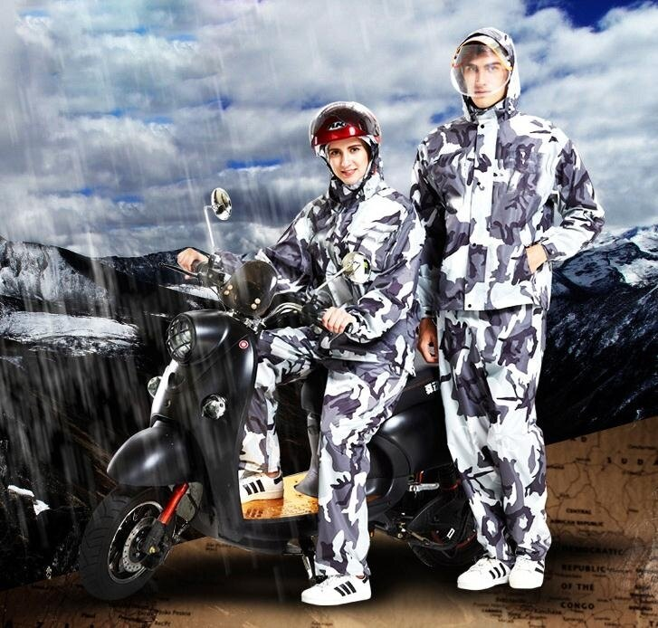 【快速出貨】雨衣 迷彩雨衣雨褲套裝成人徒步分體摩托車男女騎行加厚防水全身雨衣 七色堇 七色堇 新年春節  送禮