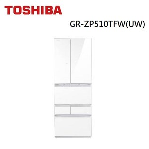 (含基本安裝)TOSHIBA東芝 508L六門冰箱 GR-ZP510TFW(UW)
