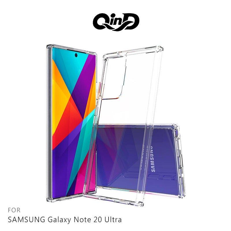 【愛瘋潮】免運 手機殼  QinD SAMSUNG Galaxy Note 20 Ultra 雙料保護套 高透光 PC硬背殼 手機殼