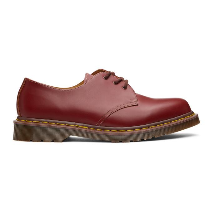 Dr. Martens 酒红色 1461 英产德比鞋