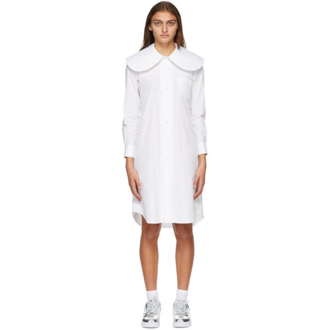 Comme des Garcons 白色彼得潘领连衣裙