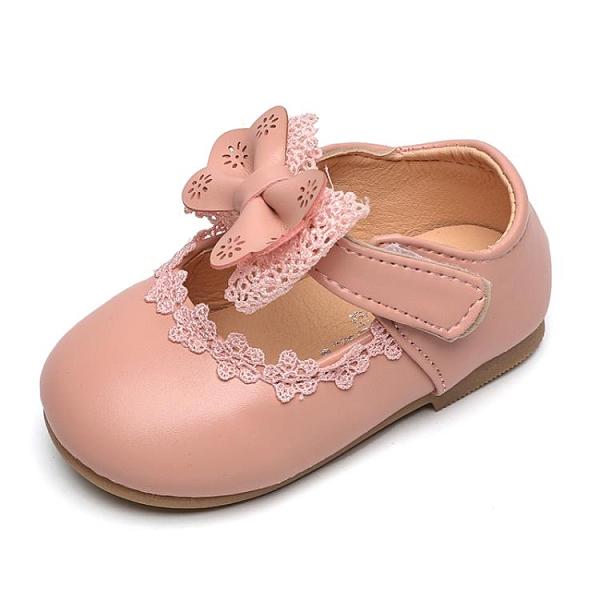 女童單鞋2020春款夏季軟底蝴蝶結防滑韓版包頭嬰幼百搭公主豆豆鞋 童趣潮品