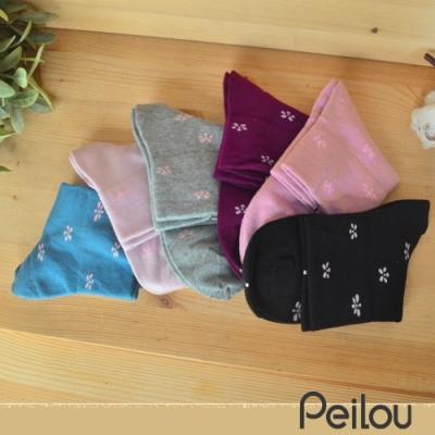 貝柔反折兩穿寬口襪-花朵(6雙組)