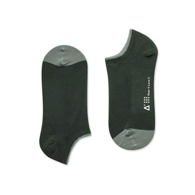WARX除臭襪 日本和色薄款船型襪-御納戶茶