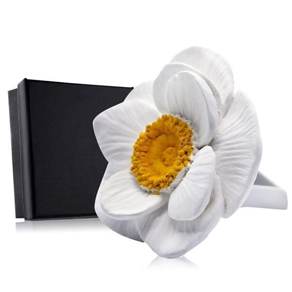 O'Pretty 歐沛媞 室內/車用 香氛擴香石擺飾-白色銀蓮花
