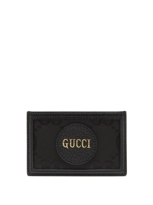 Gucci - Off The Grid Logo-patch Gg-canvas Cardholder - Mens - Black