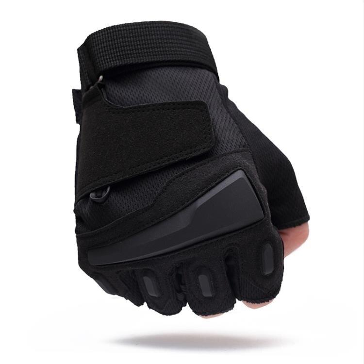 運動半指手套男軍秋冬特種兵戶外用戰術手套健身防滑騎行手套露指