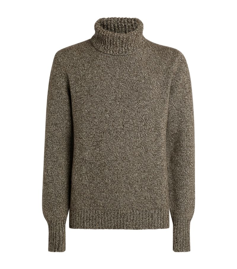 Johnstons Of Elgin Cashmere Rollneck Sweater