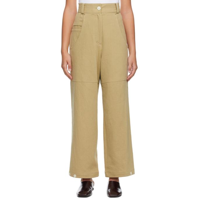 LOW CLASSIC 驼色 Classic Back Pocket 长裤