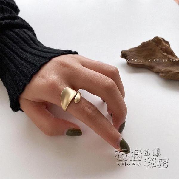 小眾設計感網紅開口可調食指戒指女夸張歐美冷淡風ins潮復古指環 雙十二全館免運