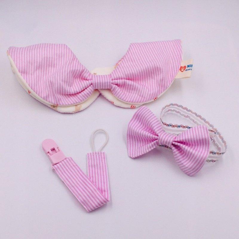 【週年慶 - Goody Bag】-粉色蝴蝶結設計彌月禮盒  圓形兜組合