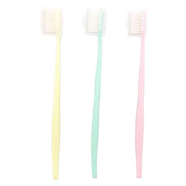 1405 日式馬卡龍牙刷-附蓋子 軟毛護齒牙刷 旅行用品