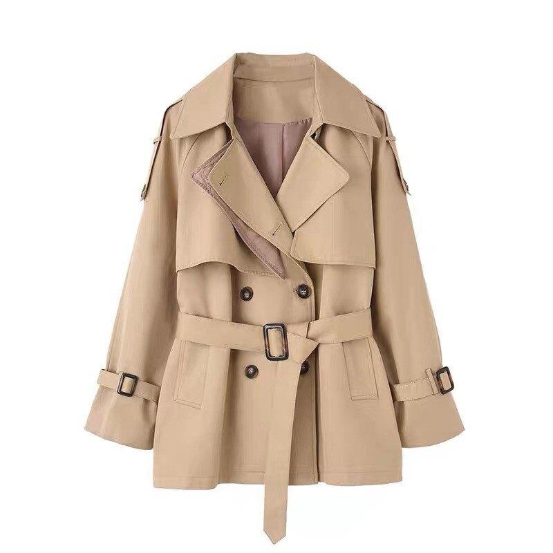 風衣外套短版大衣-薄款寬鬆工裝復古女外套73yr3【獨家進口】【米蘭精品】