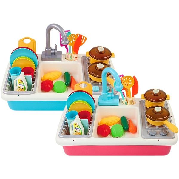 仿真廚房烹飪洗碗玩具組(1組入) 顏色可選【小三美日】 ※限宅配/禁空運