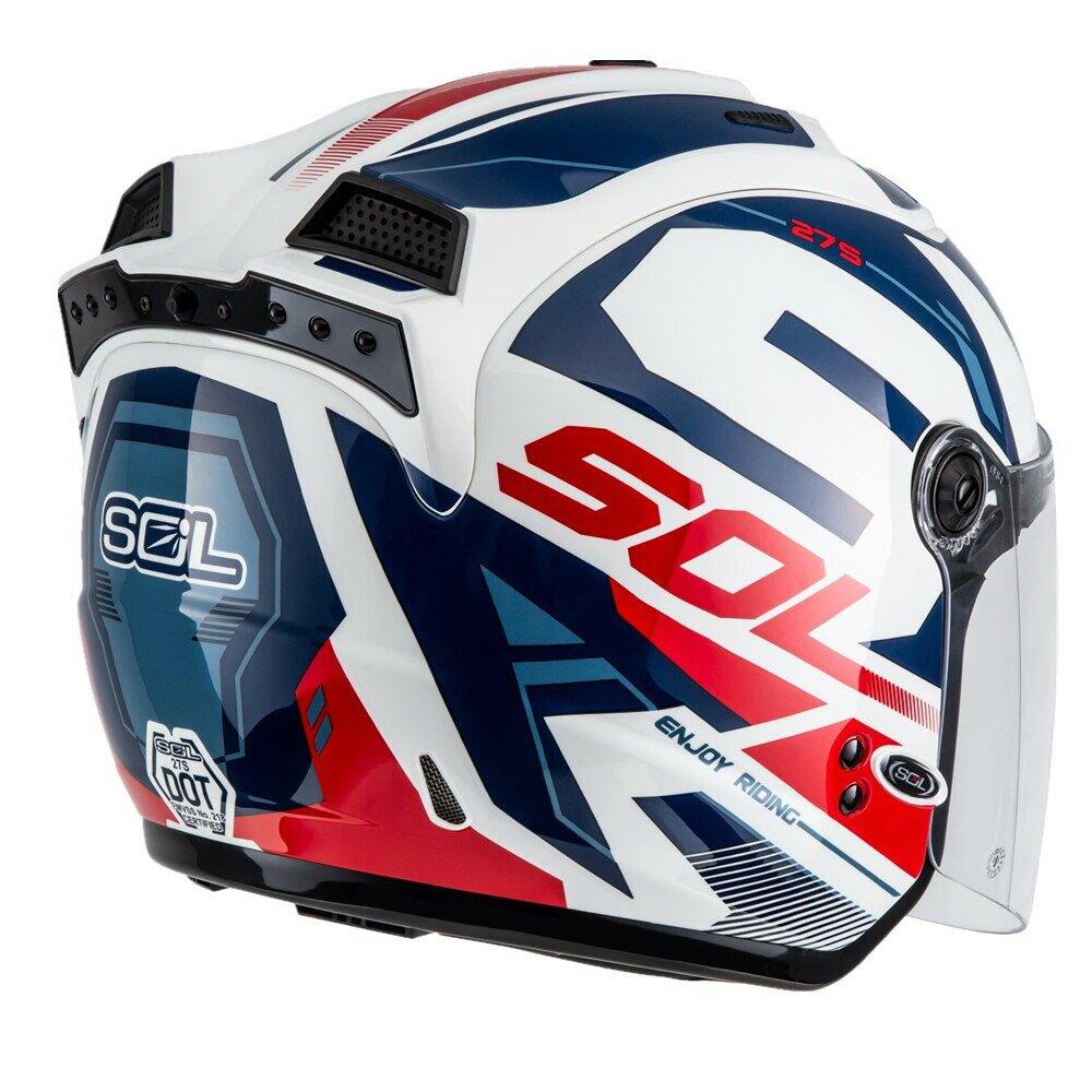 【SOL 27S 3/4罩】星艦 抗UV鏡片 快拆鏡片 LED警示燈(半罩|安全帽|機車|通勤|素色|彩繪|鏡片|鈴距離生活部品)