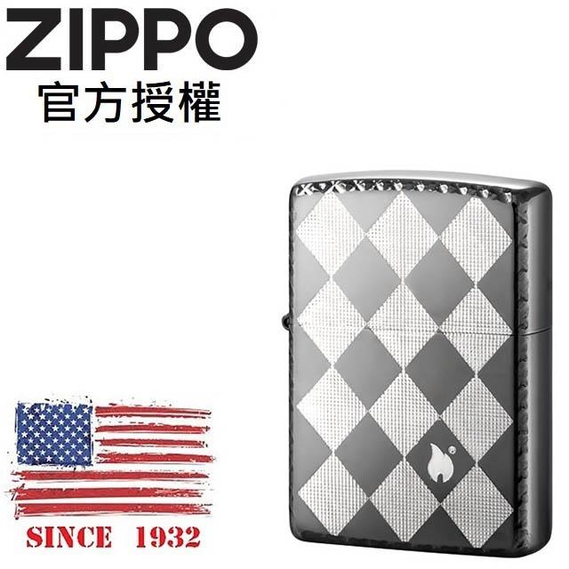 ZIPPO Diamond Check2 BNI Silver 菱格紋(耀眼銀)防風打火機