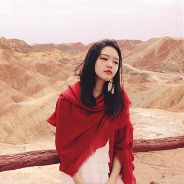 絲巾沙漠圍巾女海邊防曬披肩民族風超大棉麻素色絲巾夏季薄款紅紗巾 雙11 伊蘿