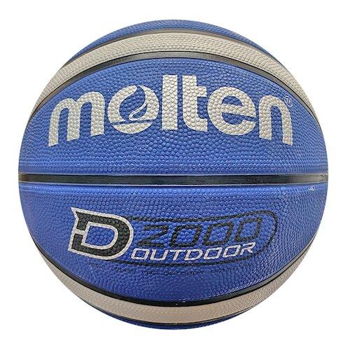 Molten [B7D2005-BH] 籃球 7號 男子 室外 大學 橡膠 深溝 12片貼 彈力 韌性 抓感 藍灰