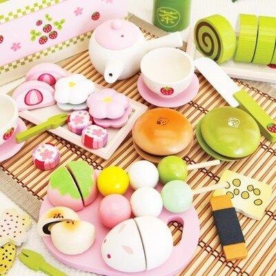 家家酒 木制草莓蛋糕切切看樂女孩玩具廚房套裝木質兒童生日禮物【99購物節】
