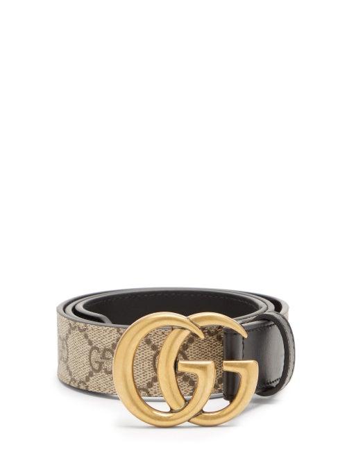 Gucci - GG Supreme Leather Belt - Womens - Black Multi