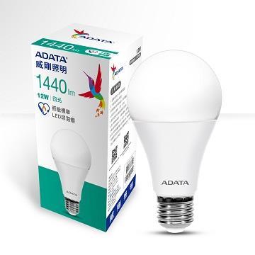 ADATA 威剛12W節能標章LED球泡燈-白光(AL-BUA22C3-12W65C)