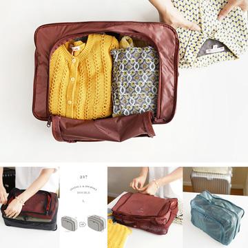 【韓國創意品牌 invite.L】L號 衣服收納袋 內衣袋 旅行收納好幫手 網袋設計好貼心 手提拉鍊包