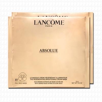 LANCOME蘭蔻 絕對完美24K黃金玫瑰霜面膜15g*2