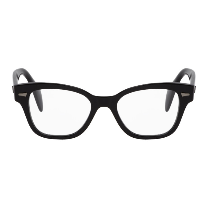 Ray-Ban 黑色 Shiny 方框眼镜
