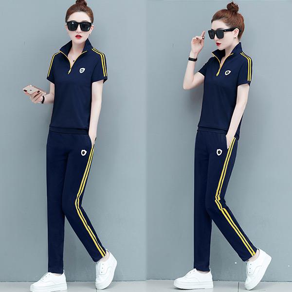 【韓國K.W.】KQN2626 賣瘋了輕鬆百搭時尚運動套裝