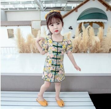 女童旗袍 寶寶夏裝女童裝1時髦旗袍2洋氣3兒童夏季裙子5歲小女孩復 清涼一夏钜惠