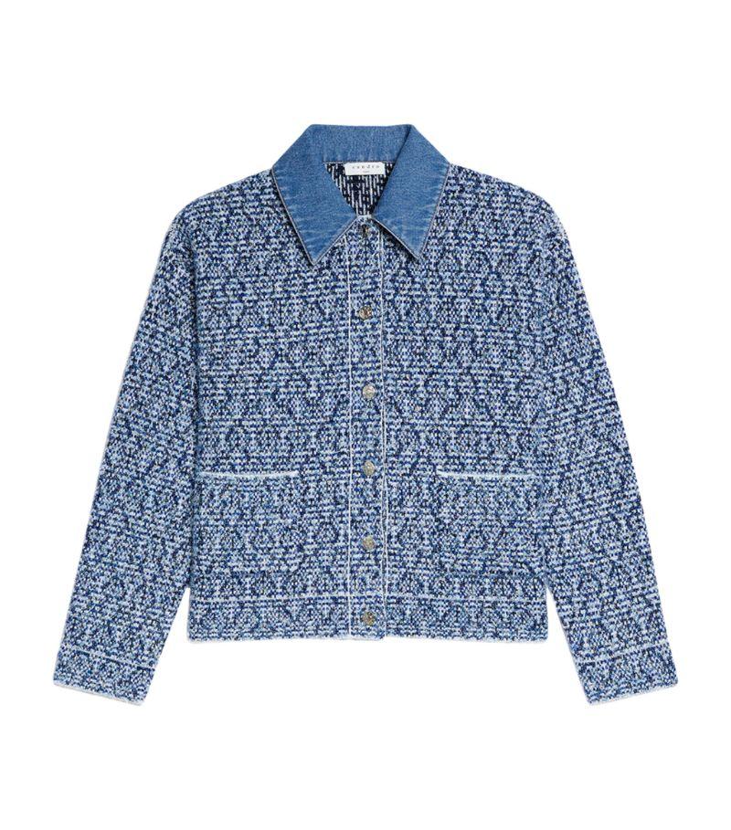 Sandro Paris Cropped Knit Jacket
