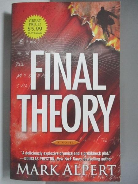 【書寶二手書T2/原文小說_AH8】The Final Theory_Mark Alpert, Mark Alpert