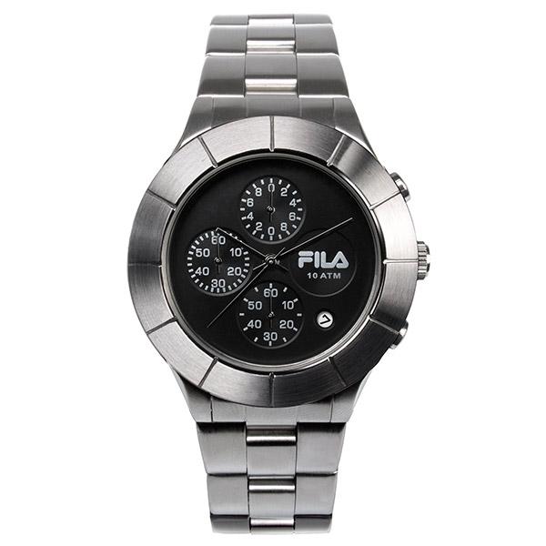 【FILA 斐樂】/三眼鋼帶錶(手錶 男錶 Watch)/38-006-002/台灣總代理原廠公司貨兩年保固