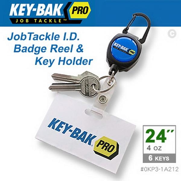 """美國KEY-BAK JobTackle 系列 24"""" 伸縮鑰匙圈證件夾(公司貨)#0KP3-1A212"""