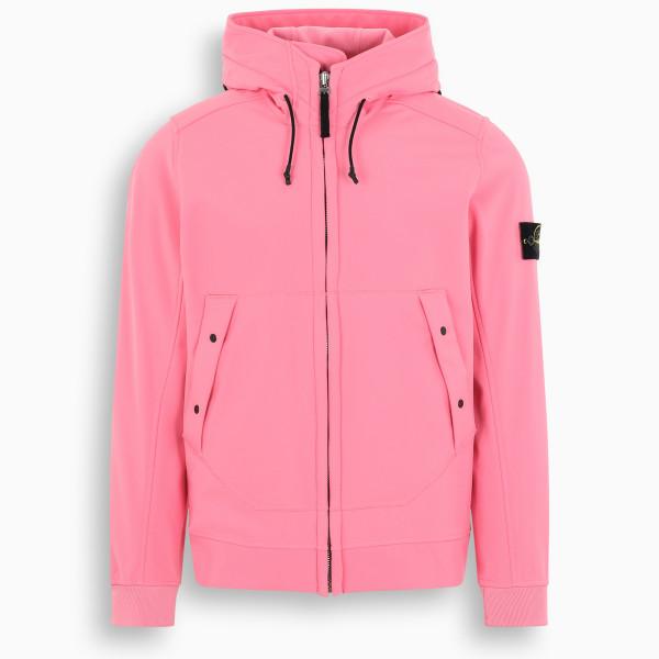 Stone Island Pink hooded Softshell jacket