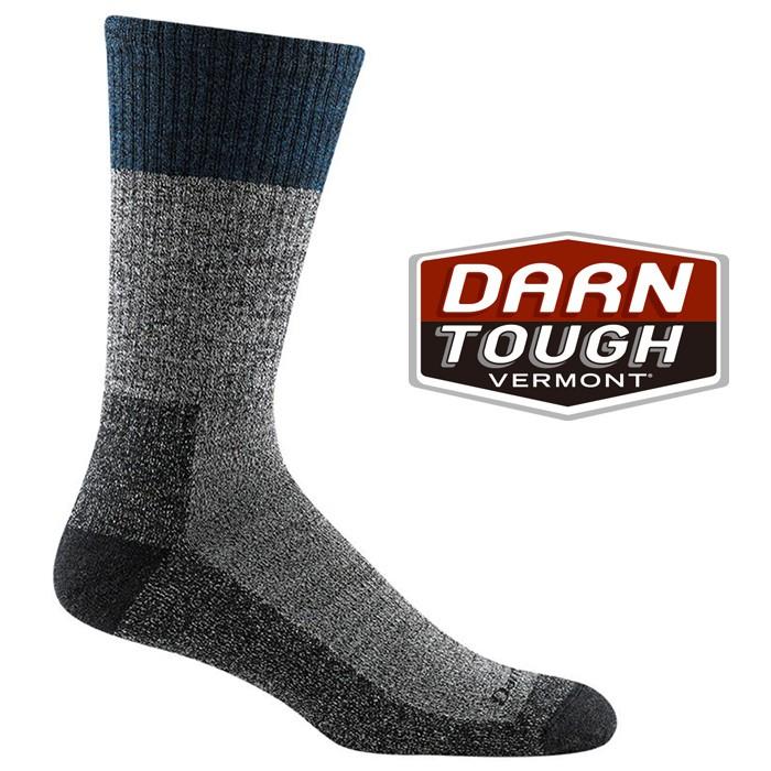 【Darn Tough 美國】羊毛中筒健行襪 美麗諾羊毛襪 運動襪 登山襪 戶外襪 男款 單寧藍 (1981)