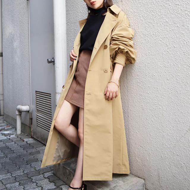 EMODA - 綁帶寬袖風衣