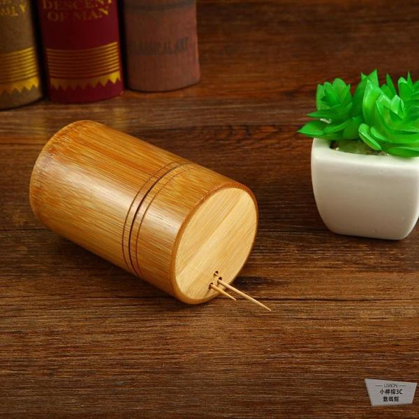 竹制牙簽盒牙簽罐創意復古居家用品【小檸檬3C】