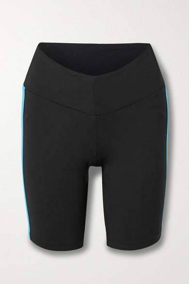 STAUD - X New Balance 条纹弹力短裤 - 黑色 - medium