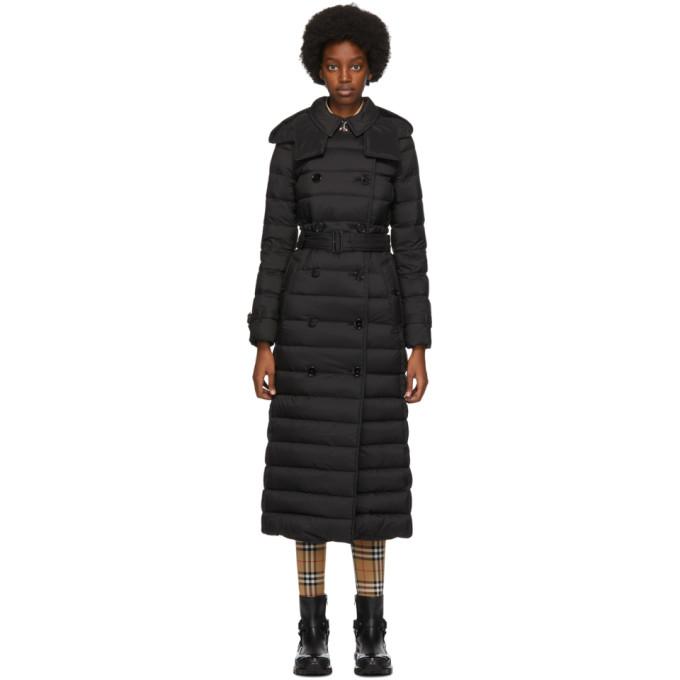Burberry 黑色 Arniston 长款羽绒大衣