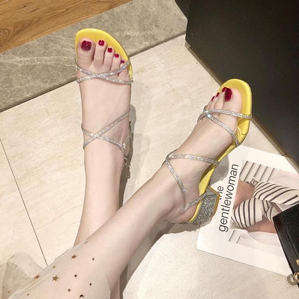 粗跟羅馬涼鞋女仙女風新款