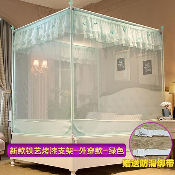 南極人公主風蚊帳 1.8m床雙人家用蒙古包 加密加厚1.5米新款紋賬 向日葵