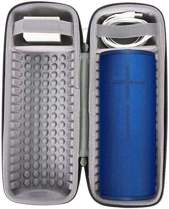 【美國代購】co2crea 硬旅行箱 保護殼 用於 UE MEGABOOM 3便攜式藍牙無線揚聲器 黑色套