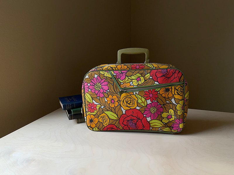 早期日本花布手提箱 / 手提袋