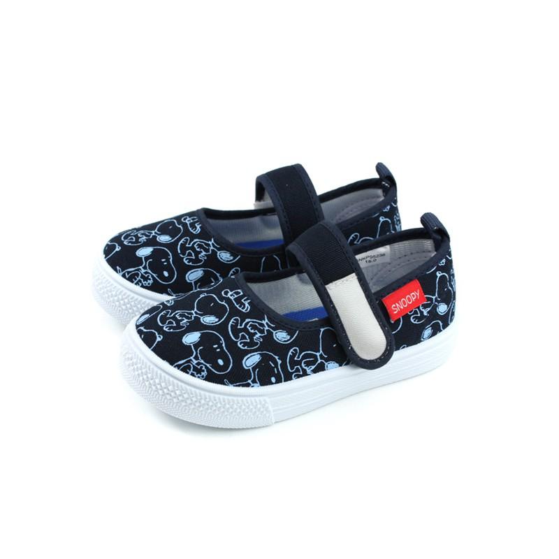 Snoopy 史奴比 娃娃鞋 室內鞋 深藍色 中童 童鞋 SNKP95236 no883